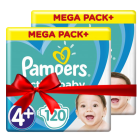 Πάνες Pampers  Active Baby Mega Pack Νο4+ (10-15kg) 240τεμ (2x120τεμ)
