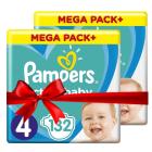 Πάνες Pampers  Active Baby Mega Pack Νο4 (9-14kg) 264τεμ (2x132τεμ)