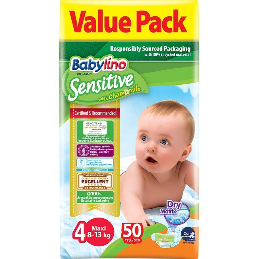 Πάνες Babylino Sensitive Value Pack No4 (8-13Kg) 50τεμ