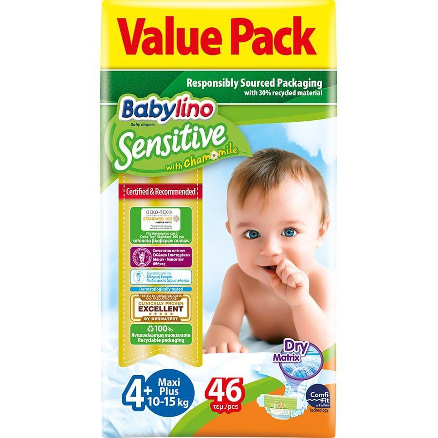 Πάνες Babylino Sensitive Value Pack No4+ (10-15Kg) 46τεμ