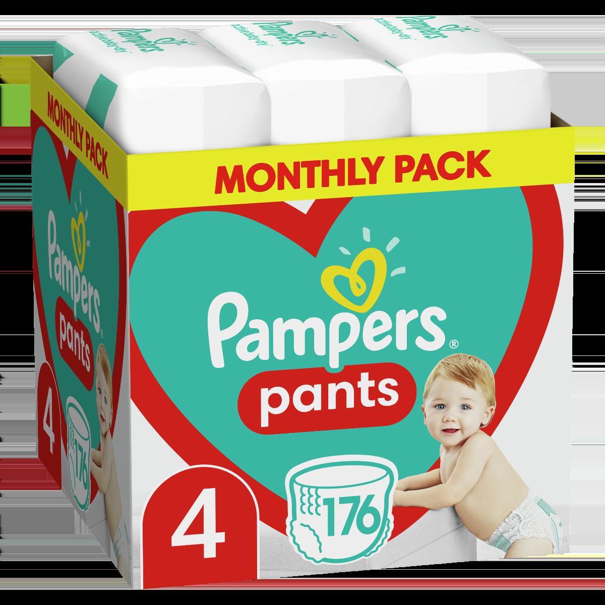Πάνες Pampers Pants Monthly Pack Νο4 (9-15kg) 176τεμ
