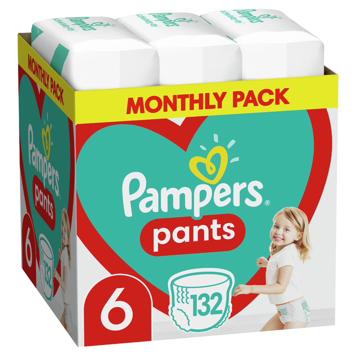 Πάνες Pampers Pants Monthly Pack Νο6 (15+kg) 132τεμ