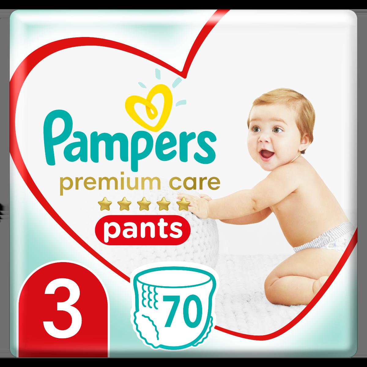 Πάνες Pampers Premium Care Pants Mega Pack Νo3 (6-11kg) 70τεμ
