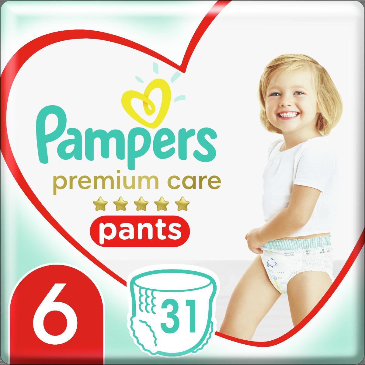Pampers Πάνες Premium Care Pants Jumbo Pack Νo6 (15+kg) 31τεμ
