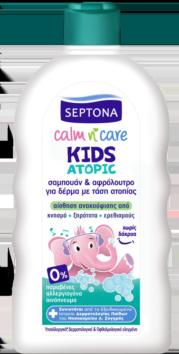 Σαμπουάν & Αφρόλουτρο Septona Calm 'n Care Atopic Kid (3+ετών) (200ml)