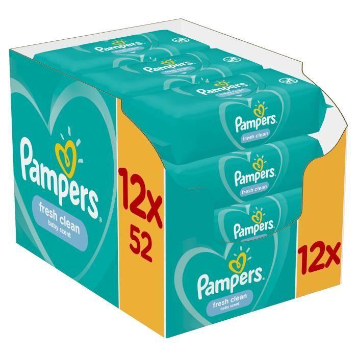 Μωρομάντηλα Pampers Fresh Monthly Βοx 624τεμ (12x52τεμ)