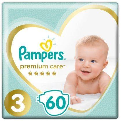 Πάνες Pampers Premium Care Jumbo Pack Νο3 (6-10kg) 60τεμ
