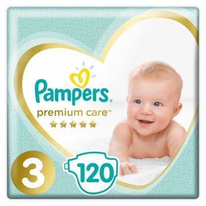 Πάνες Pampers Premium Care Mega Box Νο3 (6-10kg) 120τεμ