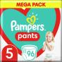 Πάνες Pampers Pants No5 Mega Pack (12-17kg) 96 τμχ
