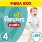 Πάνες Pampers Pants Mega Box Νο4 (9-15kg) 208τεμ  (2Χ104τεμ )