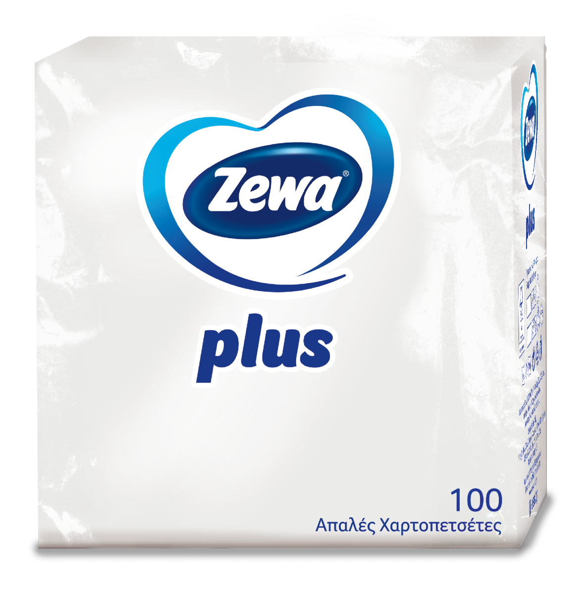 Χαρτοπετσέτες Zewa Plus λευκές 1φυλλες 100τμχ