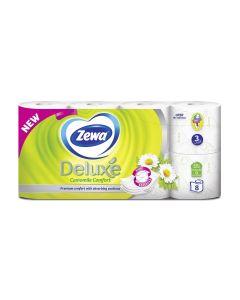 Χαρτί υγείας Zewa Deluxe Camomile με άρωμα 3φυλλο 8 ρολά