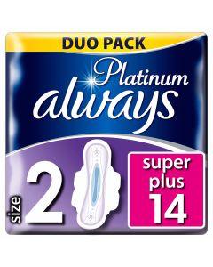 Always Platinum Ultra Long Plus Με Φτερά 14 τεμάχια (Μέγεθος 2)