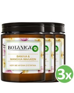 Botanica by Airwick Κερί Βανίλια & Μανόλια Ιμαλαϊων x3