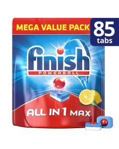 Finish Απορρυπαντικό πλυντηρίου πιάτων σε ταμπλέτες All in 1 max Λεμόνι 85ταμπλ.