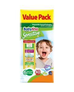 Πάνες Babylino Sensitive Value Pack No6 (13-18Kg) 40τεμ