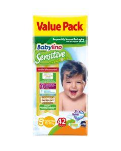 Πάνες Babylino Sensitive Value Pack No5+ (13-27Kg) 42τεμ