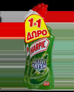 Harpic Υγρό Καθαριστικό Λεκάνης Πεύκο (750 ml) 1+1
