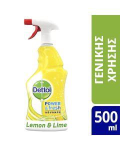 Dettol Spray Αντιβακτηριδιακό Lemon & Lime 500ml