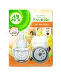 Airwick Ηλεκτρική Συσκευή Αποσμητικού Χώρου & Ανταλλακτικό  Vanilla & Orchid  (19 ml)