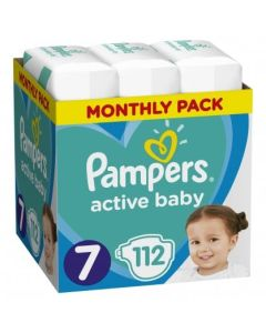 Πάνες Pampers  Active Baby Monthly Box Νο7 (15+kg) 112τεμ