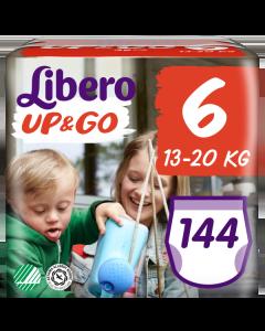 Πάνες Libero Up & Go Jumbo Pack Νο6 (13-20kg) 144τεμ