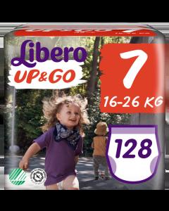 Πάνες Libero Up & Go Jumbo Pack Νο7 (16-26kg) 128τεμ