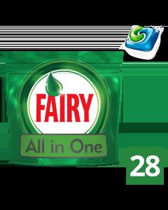Fairy All In One Original Κάψουλες Πλυντηρίου Πιάτων 28 Κάψουλες