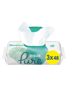 Pampers Aqua Pure Μωρομάντηλα (3x48) 144τεμ