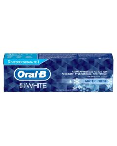 Oral-B 3D White Arctic Fresh Οδοντόκρεμα 75ml
