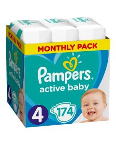 Πάνες Pampers Active Baby Monthly Box Νο4 (9-14kg) 174τεμ