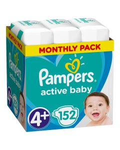 Πάνες Pampers Active Baby Dry Monthly Box Νο4+ (10-15kg) 152τεμ