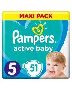 Πάνες Pampers  Active Baby Maxi Pack Νο5 (11-16kg) 51τεμ
