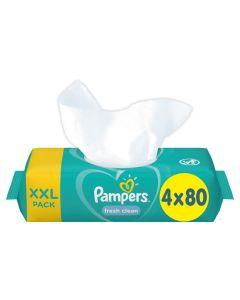Μωρομάντηλα Pampers Fresh 320τεμ (4x80τεμ)