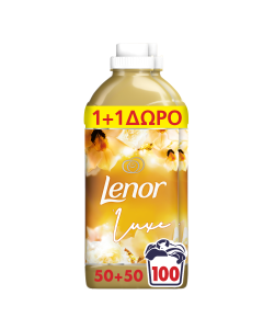 Lenor Μαλακτικό Ρούχων Gold Orchid 50 Μεζούρες 1+1 ΔΩΡΟ