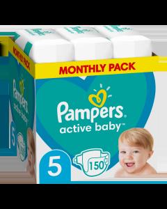 Πάνες Pampers Active Baby Monthly Box Νο5 (11-16kg) 150τεμ