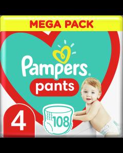 Πάνες Pampers Pants No4 Mega Pack (9-15kg) 108 τμχ