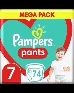 Πάνες Pampers Pants No7 Mega Pack (17+kg) 74 τμχ