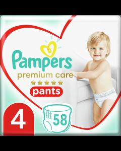 Πάνες Pampers Premium Care Pants Mega Pack Νo4 (9-15kg) 58τεμ