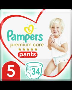 Pampers Πάνες Premium Care Pants Jumbo Pack Νo5 (12-17+kg) 34τεμ