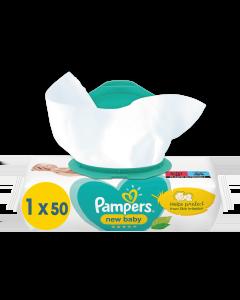 Μωρομάντηλα Pampers New Baby Sensitive Με Καπάκι 50τεμ.