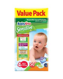 Πάνες Babylino Sensitive Value Pack No4 (8-13Kg) 50τεμ
