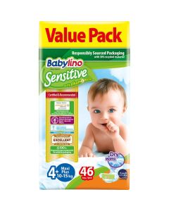 Πάνες Babylino Sensitive Value Pack No4+ (10-15Kg) 46τεμ