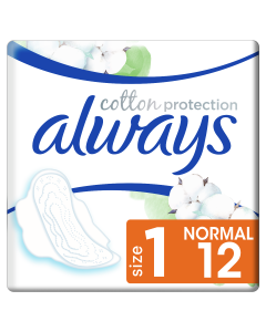 Always Cotton Protection Ultra Normal Σερβιέτες Με Φτερά Νο1, 12 Τμχ
