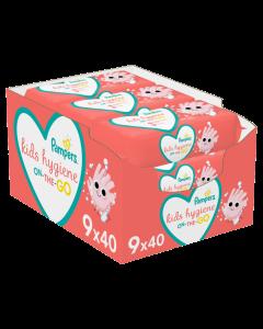 Μωρομάντηλα Pampers Kids Hygiene On-The-Go, 9x40, (360τμχ)