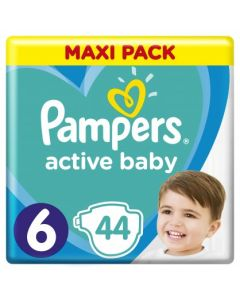 Πάνες Pampers  Active Baby Maxi Pack Νο6 (13-18kg) 44τεμ