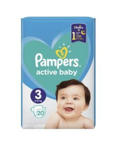 Πάνες Pampers Active Baby Carry Pack Νο3 (5-9kg) 20τεμ