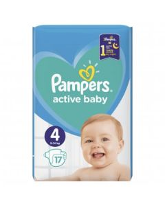 Πάνες Pampers Active Baby Carry Pack Νο4 (9-14kg) 17τεμ