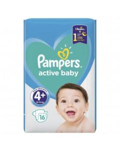 Πάνες Pampers Active Baby Carry Pack Νο4+ (9-16kg) 16τεμ