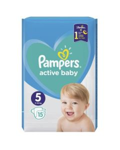Πάνες Pampers Active Baby Carry Pack Νο5 (11-18kg) 15τεμ